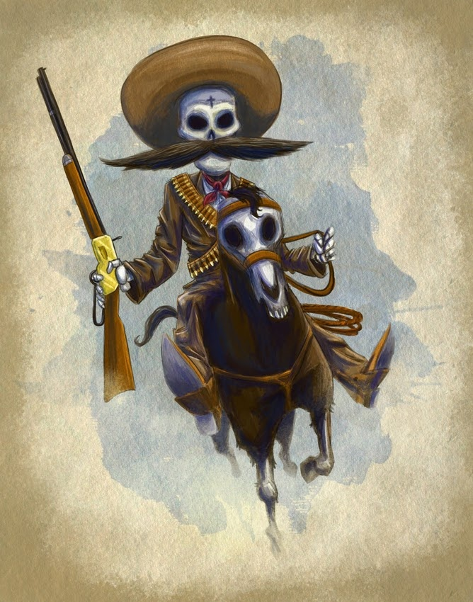 52 best western design images on pinterest art posters for Pancho villa tattoo