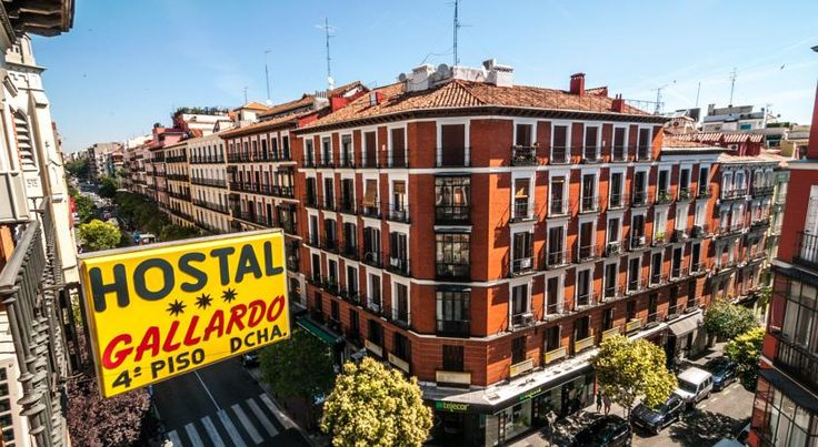 Hostal Gallardo Madrid Hostal Gallardo is situated right in the heart of Madrid, only 500m from the Puerta del Sol. Our historic building from the 19th century is located in the Malasaña district near many of the main tourist and shopping zones.