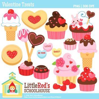 Clip Art - Valentine Treats - holiday-themed clipart $4.50