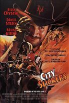 City Slickers (1991). [PG-13] 113 mins. Starring: Billy Crystal, Daniel Stern, Bruno Kirby Jr., Helen Slater, Patricia Wettig, Jack Palance, Noble Willingham, Jeffrey Tambor, Phill Lewis, Yeardley Smith,Jake Gyllenhaal, Danielle Harris and Jayne Meadows