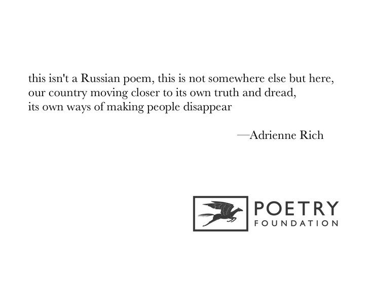 """What Kind of Times Are These"" by Adrienne Rich"
