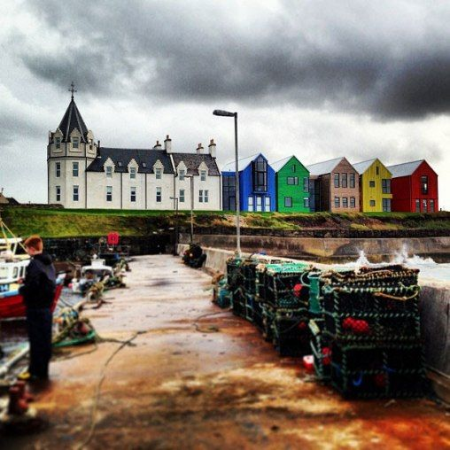 John O'Groats, Scotland: the northernmost place in Great Britain.  Pictured…