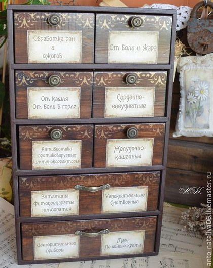 """Купить Шкафчик """"Домашняя аптечка"""" (8) - Домашняя аптечка, хранение лекарств, мебель ручной работы"""