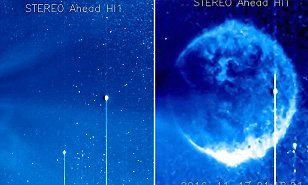 NASA cameras capture huge blue spherical object | Daily Mail Online