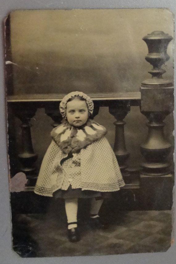 creepy little girl tintype