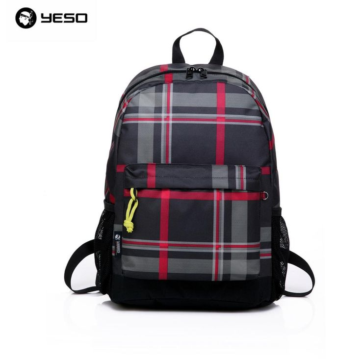 British Plaid Waterproof Laptop Backpack