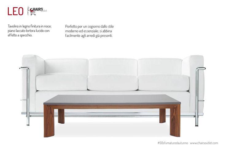 € 126,00 #SCONTO 70% #tavolino basso LEO da abbinare al #divano, struttura in #legno di noce e ripiano laccato grigio tortora lucido, ideale per la tua zona giorno in #50sfumaturedautunno. Compralo in #offerta su #chairsoutlet www.chairsoutlet.com