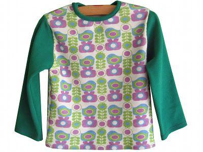 Op T-shirt klikken aan de wasdraad, dan naar beneden scrollen = voor maten 80/86/92/98 - gratis patroon + uitleg