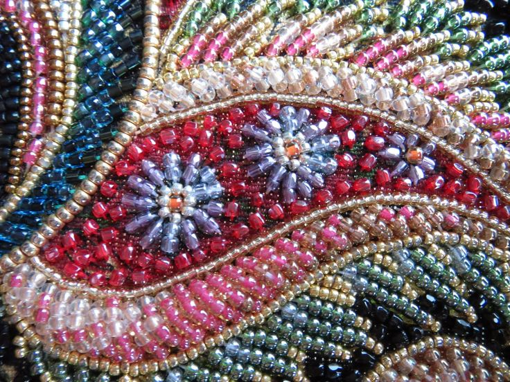 Japanese bead embroidery makaroka