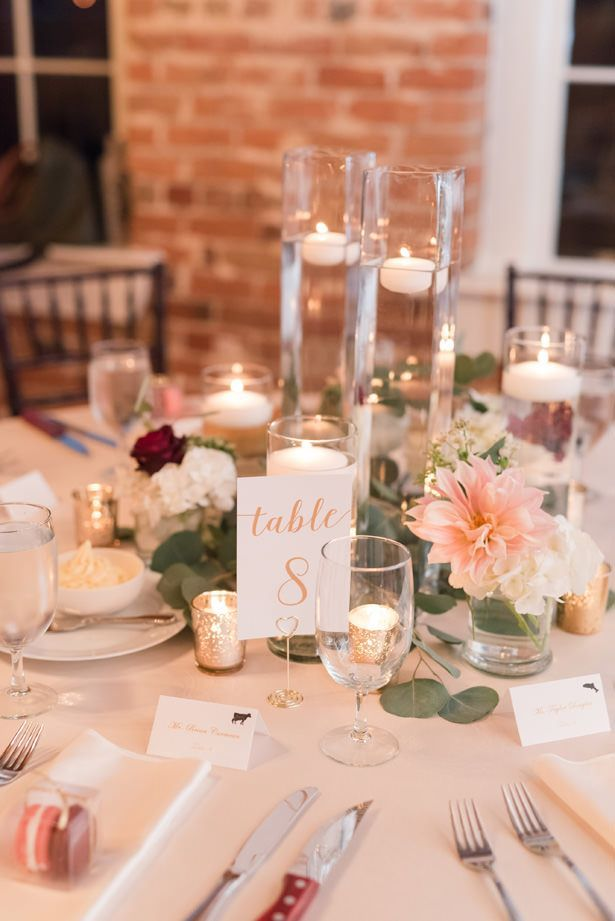 A Classic Elegant Wedding Overflowing With Rustic Romance Round Wedding Tables Greenery Wedding Centerpieces Classic Elegant Wedding