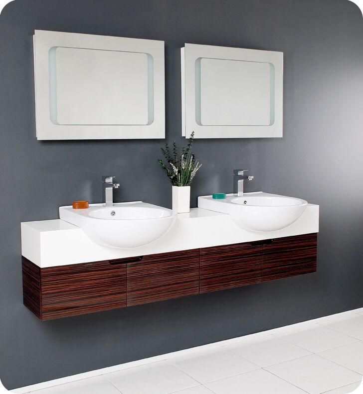 Photos Of Inspirations Modern Bathroom Sink Design For Your Decorations Ideas Fresca Vistoso Double Sink Bathroom Design Vanity