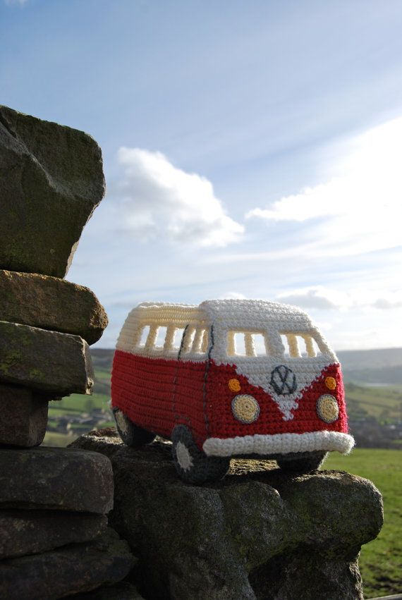 PDF Pattern to Crochet your own Campervan - based on the VW Splitscreen, £3.75