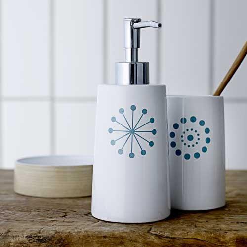 Accessoires salle de bain en céramique blanche (3 modèles ...