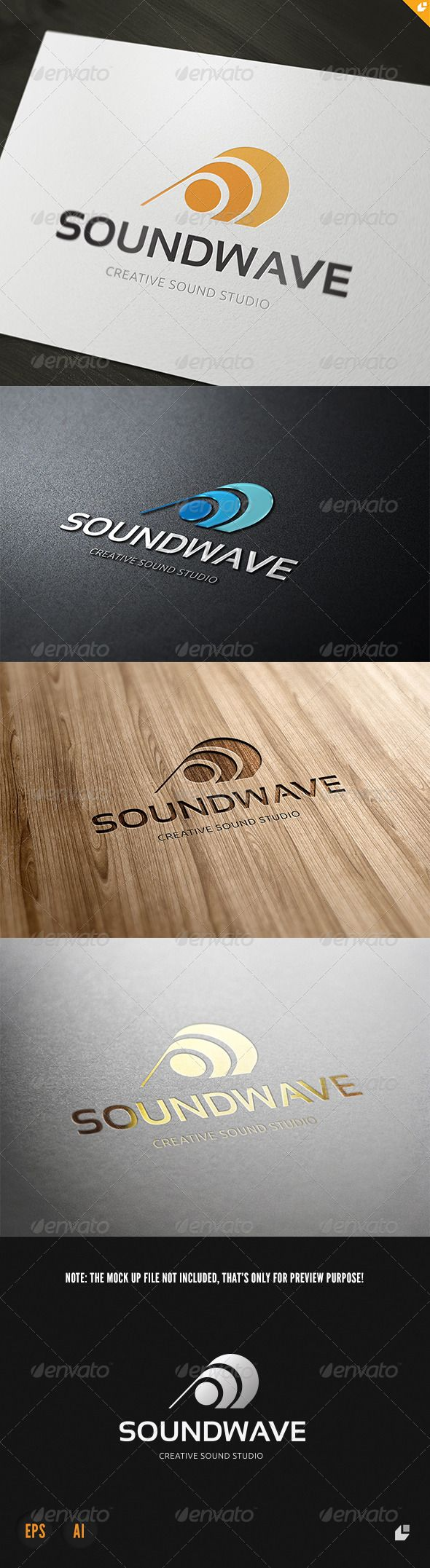 Sound Wave Logo #GraphicRiver Media Play- Logo Template This logo design for creative company. Sound Wave Features AI and EPS 300PPI CMYK 100% Scalable Vector Files Easy to edit color / text Ready to print Used Free Font (Link Included Main Download) My Logo Templates Designs If you buy and like this logo, please remember to rate it. Thanks! Created: 4February13 GraphicsFilesIncluded: VectorEPS