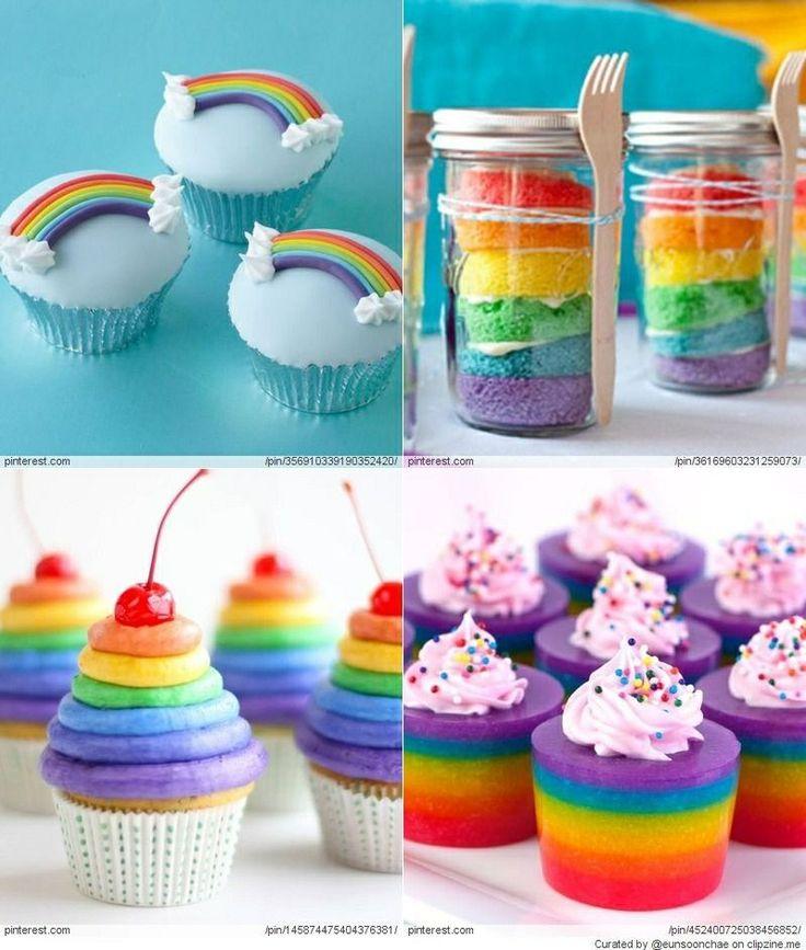 Rainbow cupcakes :)