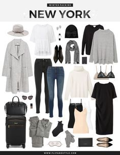 Packing, style and outfit ideas for the fall / winter season in New York