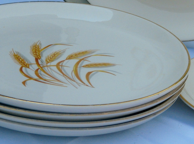 Vintage Golden Wheat 22K Gold Would be great for Thanksgiving! & 49 best Golden Wheat Dishes images on Pinterest | Dinnerware Homer ...