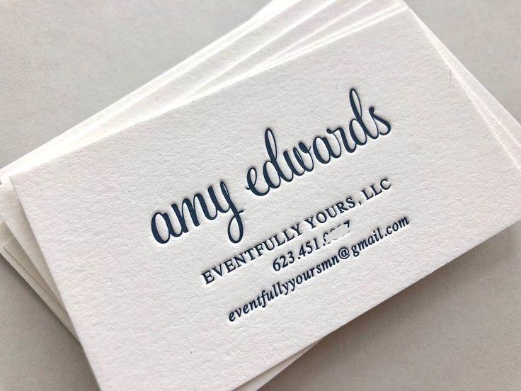 Letterpress Business Cards Calling Card Custom Calligraphy Etsy Letterpress Business Cards Letterpress Letterpress Cards