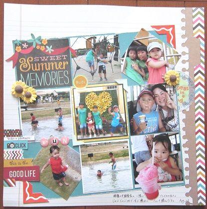 summer MEMORIES by:cori♪ #スクラップブッキング