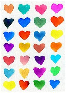 Colorful Hearts - Valentine's Day Color Mixing Craft!