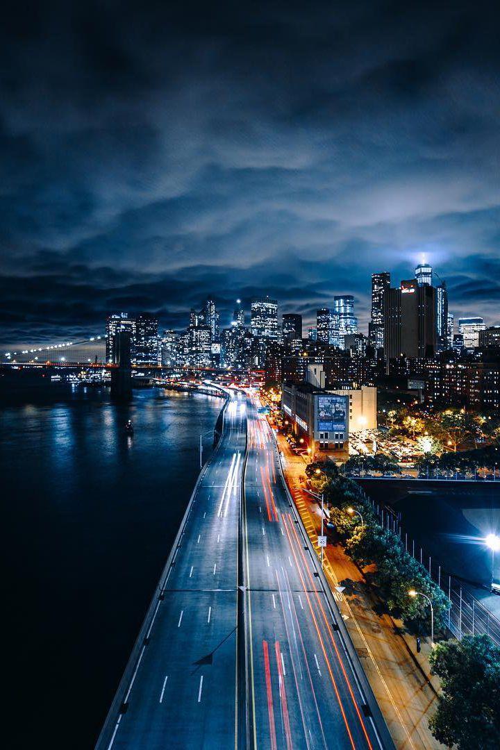 ночной город картинки на телефон проходят всего