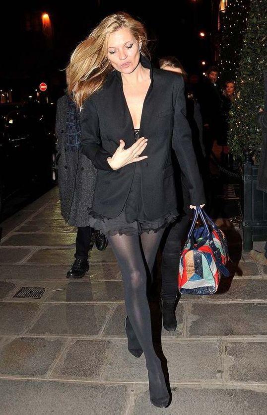 Kate Moss, Paris, December 2014