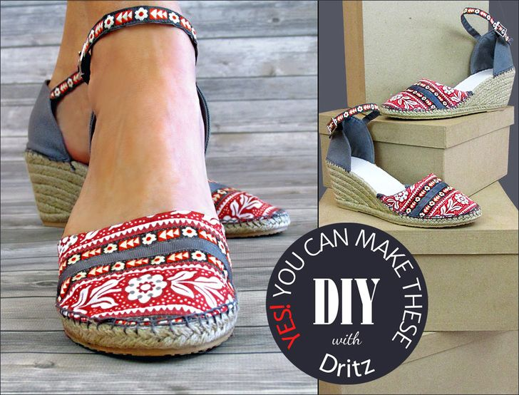 DIY Wedge Espadrilles: New from Dritz   Sew4Home
