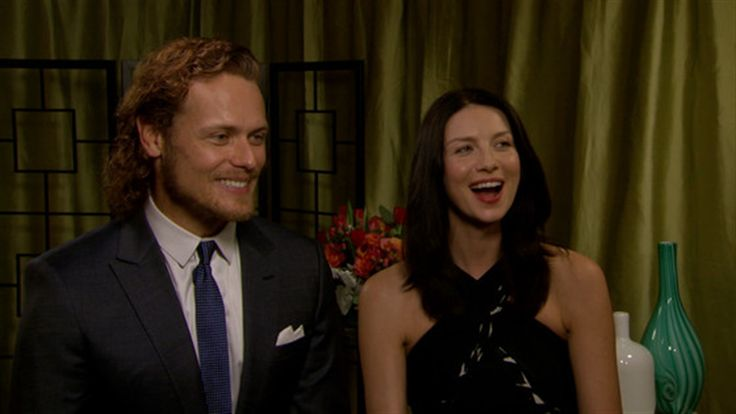 Sam Heughan and Caitriona Balfe of Starz's Outlander have what is arguably the hottest chemistry ...