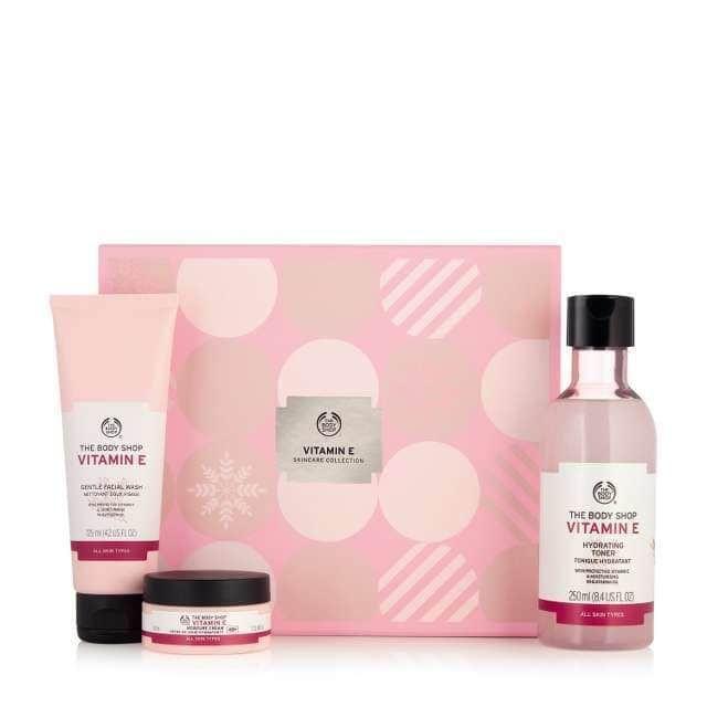 P002487 Vitamin E Skincare Collection Skin Care Gifts Skincare Gift Set Body Shop Vitamin E