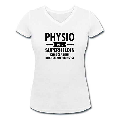 Physio Superheldin Frauen T Shirt Mit V Ausschnitt Von Sp... Https