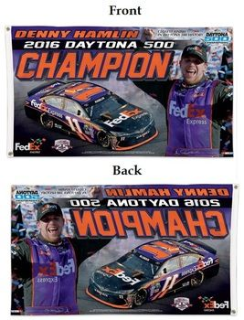 Denny Hamlin 2016 Daytona 500 Champion 3x5 Flag