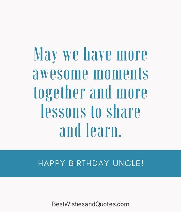 Happy Birthday Uncle: Share these Birthday Messages