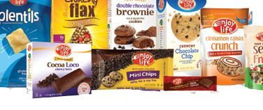 Top 8 allergen free snacks from enjoy life foods.  Amazon has the bars, you can get the cookies at Whole Foods and Earth Fare.