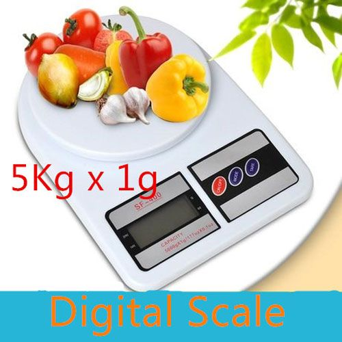 Free Shipping Household Good Helper 5kg Portable Compact Electronic Balance 5000g x 0.1g Digital LCD Kitchen Weighing Scale