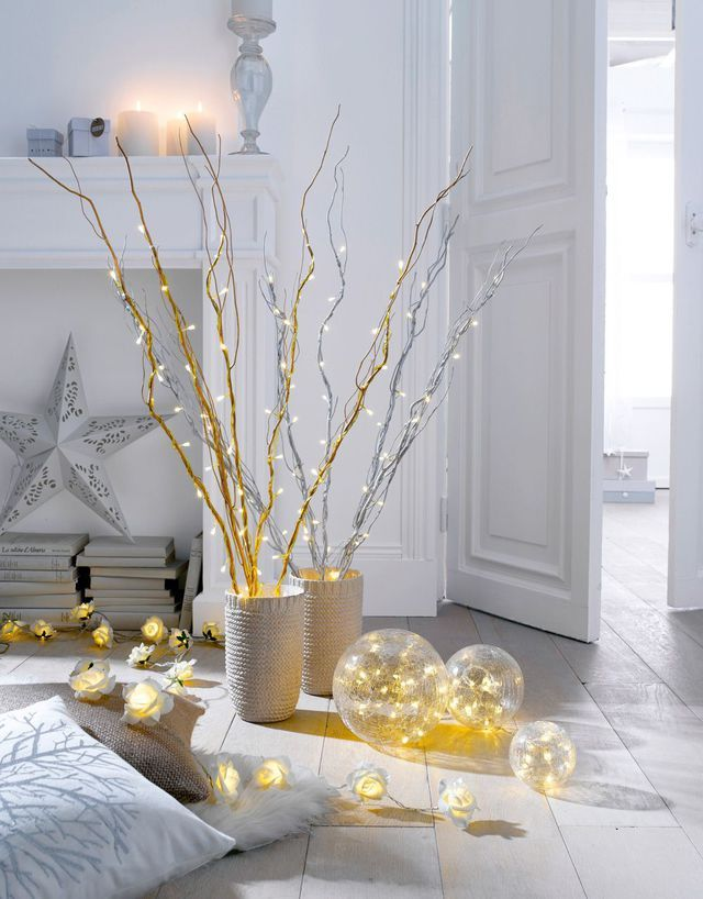 108 best images about bricolage no l on pinterest trees - Decoration de noel lumineuse ...