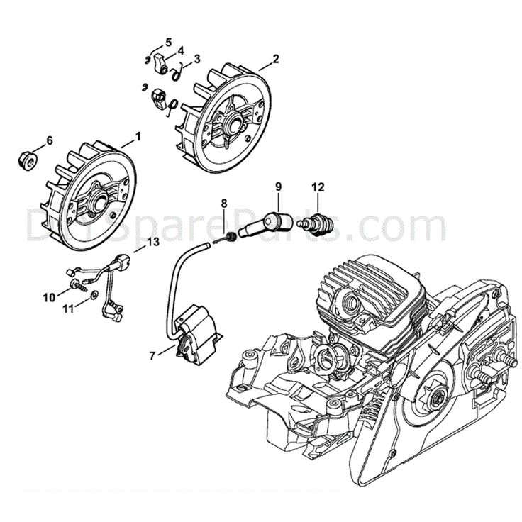Stihl MS 271 Chainsaw (MS271) Parts Diagram, Ignition System