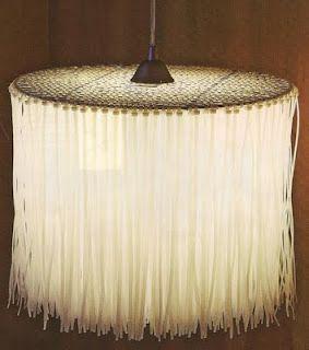 DIY - zip-tie pendant light