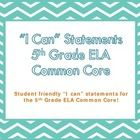 """$ These """"I Can"""" statements are for display in the classroom. They are based on the Common Core ELA curriculum and written in student-friendly languag..."""