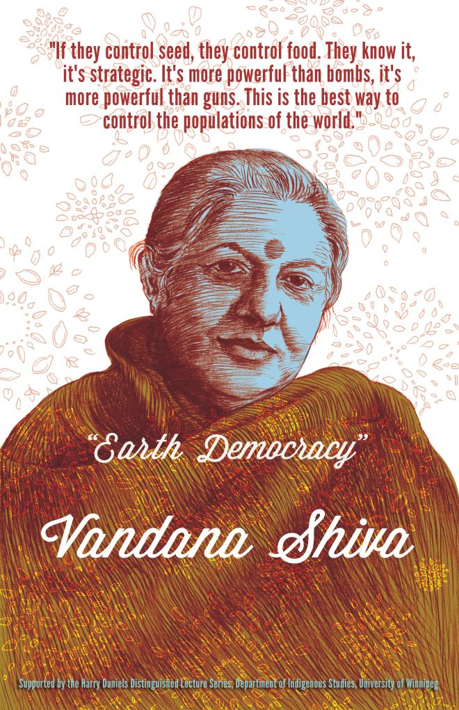 """""""Earth Democracy"""" Vandana-Shiva-poster"""