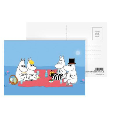 Moomin Picnic Postcard by Tove Jansson   on StarEditions.com - Wholesale Prints and Gifts