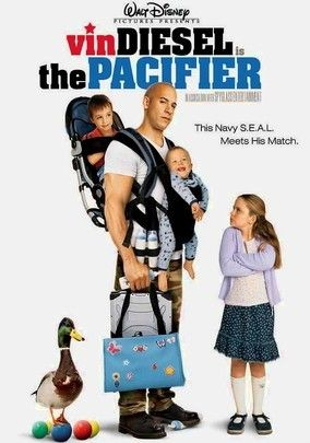 The Pacifier, this is actually a really good family night movie. It's rated PG for kids but is also entertaining for adults! I give this movie a 8.5 for creativity of plot and actors