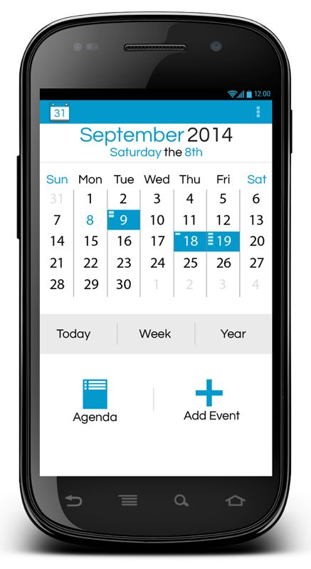 Android Calender App by Joseph Alfonso, via Behance