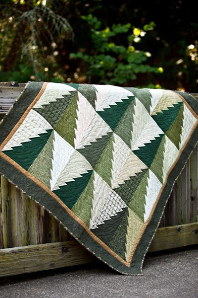 "I like this Simple but Fun Winter tree quilt. I may add a little ""something"" to the border to add just a touch of another color."
