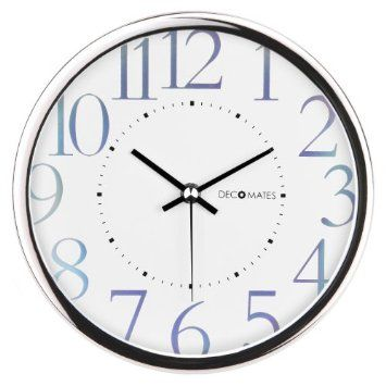 Bathroom Clock Amazon Com Decomates Non Ticking Silent