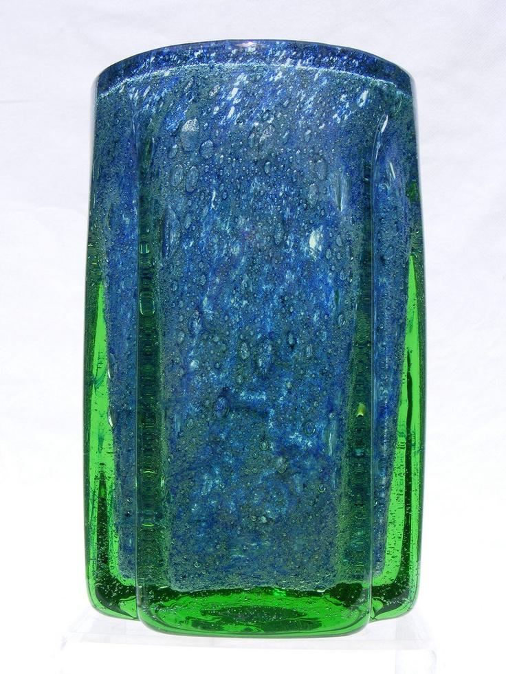 Randsfjord blue & green glass vase by Benny Motzfeldt. £100.00, via Etsy.