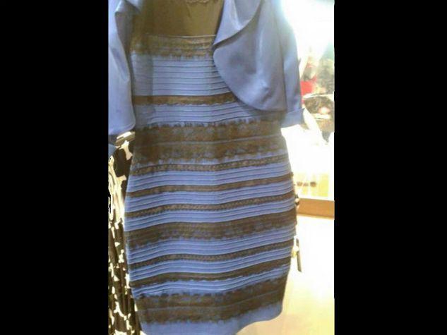 Foto del vestito nero e blu