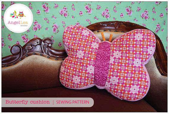 This is a sewing pattern for a butterfly cushion.    You can make a lovely butterfly cushion to match your childs bedroom decor with this easy to