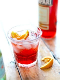 Campari and Soda ( I like it with lime tho)
