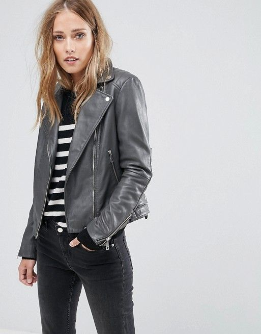 711e1b588 Whistles Quilted Detail Leather Biker Jacket | Women's Jackets and ...