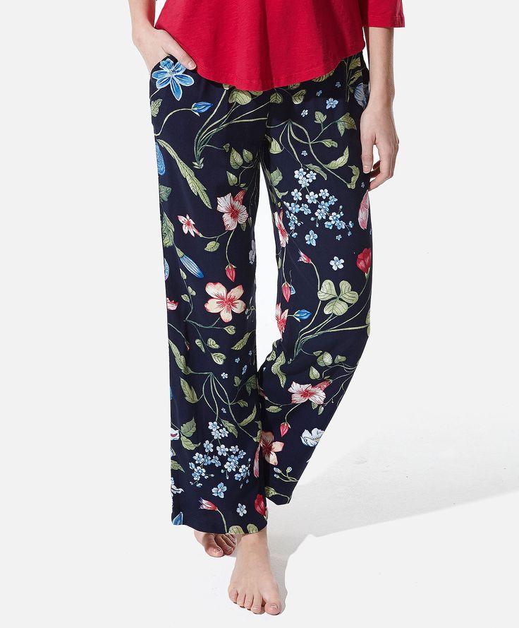 Dlugie Spodnie W Kwiaty Oysho Floral Pants Pants Fashion